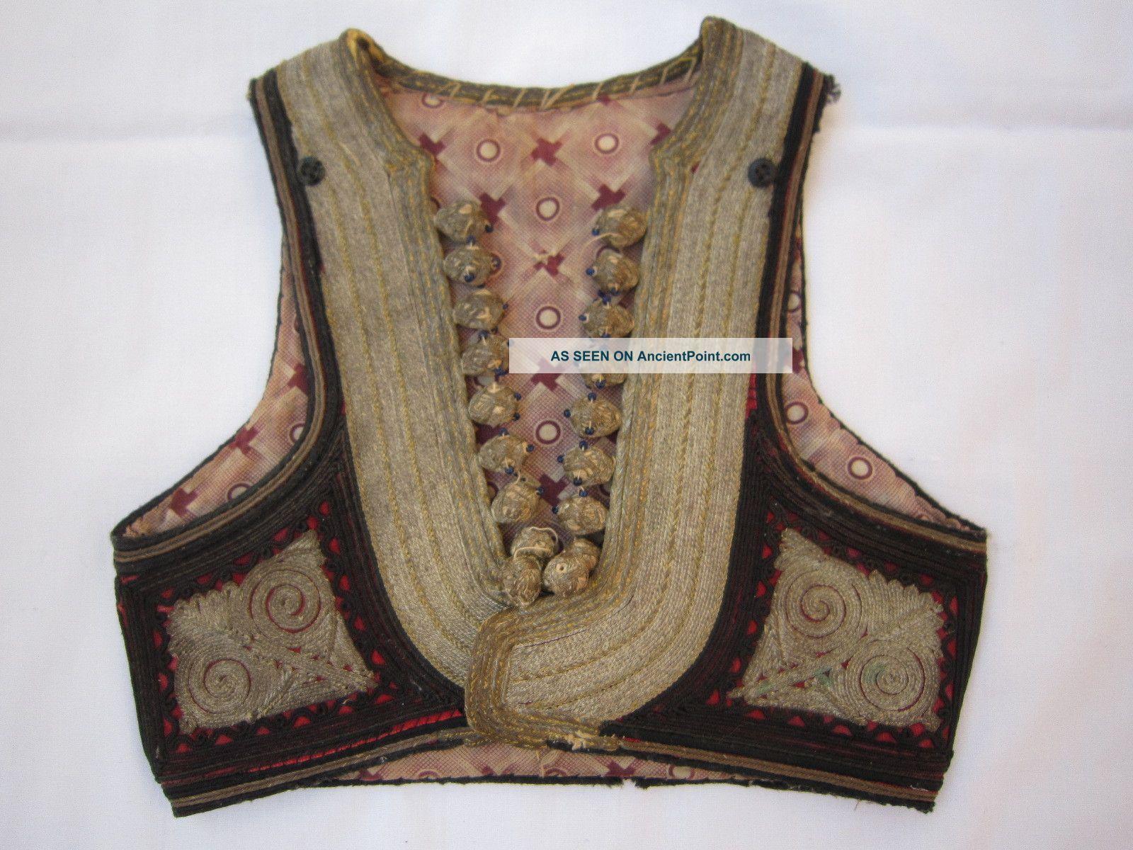 Gorgeous Antique Ottoman Sleeveless Jacket,  Vest 18c. ,  Very Rare,  Sarma Islamic photo