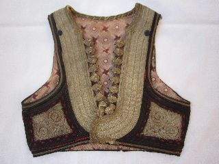 Gorgeous Antique Ottoman Sleeveless Jacket,  Vest 18c. ,  Very Rare,  Sarma photo