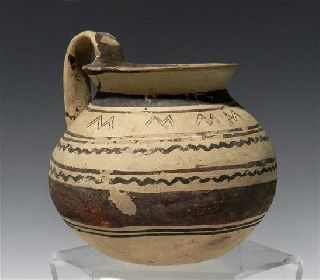 Artemis Gallery Published Daunian Bi - Chrome Pottery Jug photo