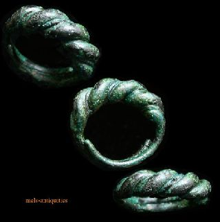 Large Viking Faux Twist Bronze Ring 800 - 1100ad photo