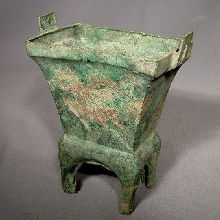 Authentic Antique Ancient Chinese Bronze Censer Chou Dynasty Over 2000 Years Old photo