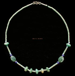 Green Islamic Glass Bead Necklace Jewellery photo