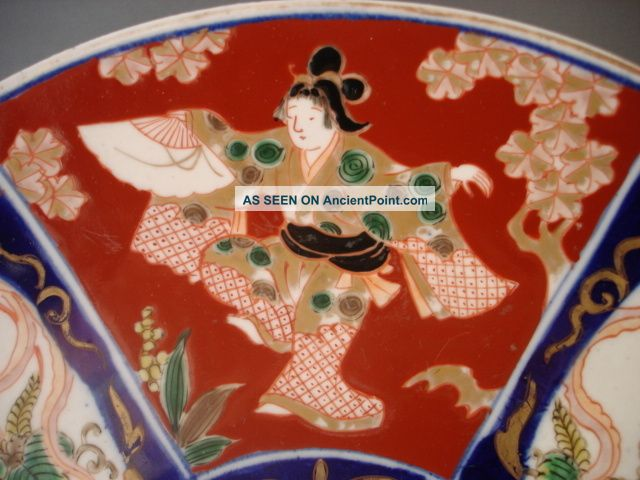 Oriental Charger Large Oriental Hand Painted Charger Beautifully Decorated Chinese photo