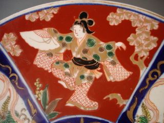 Oriental Charger Large Oriental Hand Painted Charger Beautifully Decorated photo
