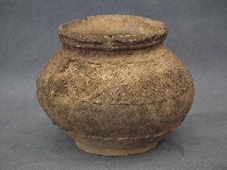 Antique Chinese Neolithic Ceramic Jar photo