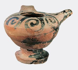 Greek Attic Pottery Feeder Vessel photo