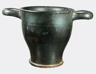 Greek Black Glazed Pottery Wine Cup photo