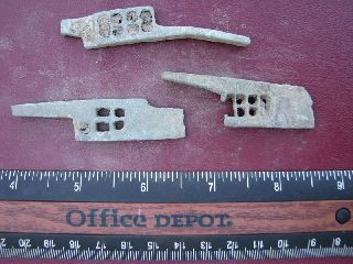 3 Ancient Medieval To Roman Bronze Lock Bolts 5099 photo