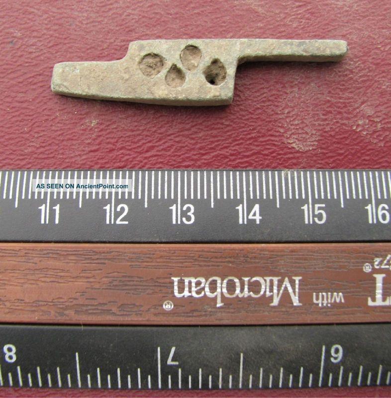 Small Ancient Medieval To Roman Bronze Lock Bolt 6372 Roman photo
