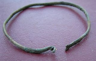 Ancient Roman To Medieval Period Bronze Bracelet 5082 photo