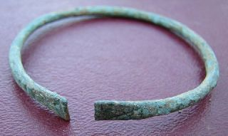 Ancient Roman To Medieval Period Bronze Bracelet 5081 photo