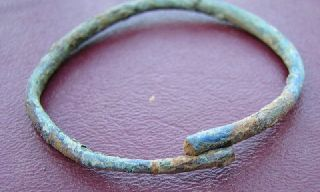 Ancient Roman To Medieval Period Bronze Bracelet 5076 photo