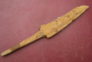 Authentic Ancient Uncleaned Iron Knife K3035 photo