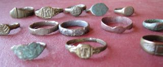 13 Roman To 20th Century Finger Rings Found With A Metal Detector 5329 photo