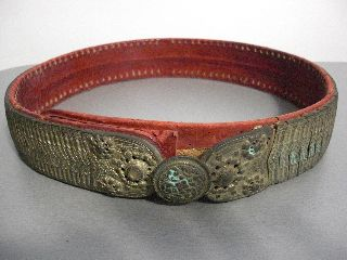 Antique Ottoman Totally Silver Belt 1800 ' S 18th C.  Islamic Rare Museum photo
