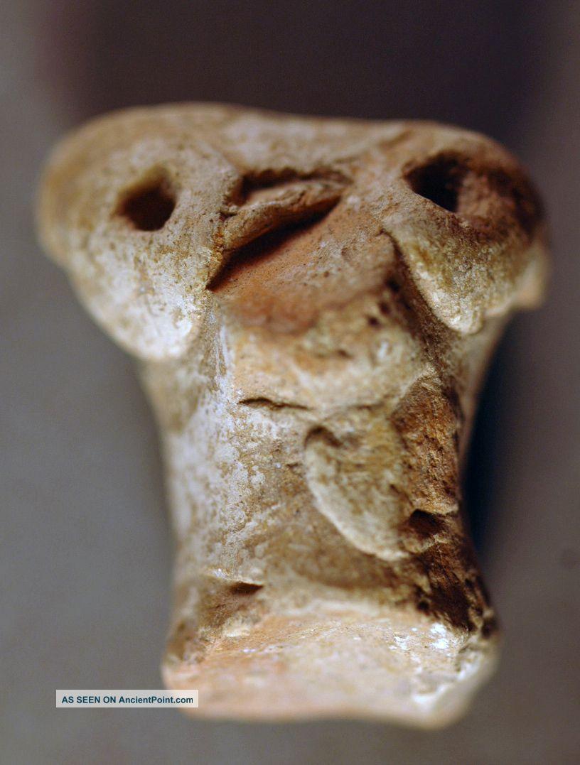 Animal Head,  Levantine Bronze Age Clay Over 3000 Years Old Nr Near Eastern photo