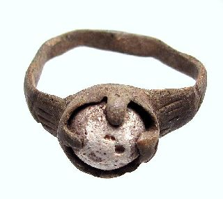 Roman Medieval Women Ring With Ancient Unknown Stone 100% Rare photo