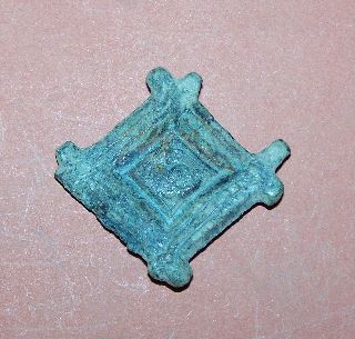 Anglo - Saxon Bronze Brooch photo