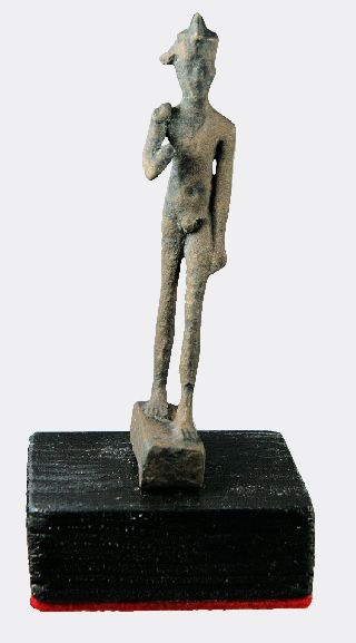 Egyptian Bronze Harpocrates Figure photo