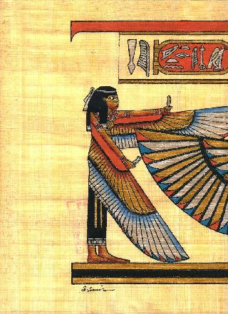 Egyptian Papyrus Handmade Painting 30x80 Cm.  Size (12