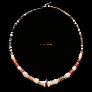 Ancient Neolithic Canaanite Sumerian Necklace 7000 - 1000 Bc Jewellery N42s photo