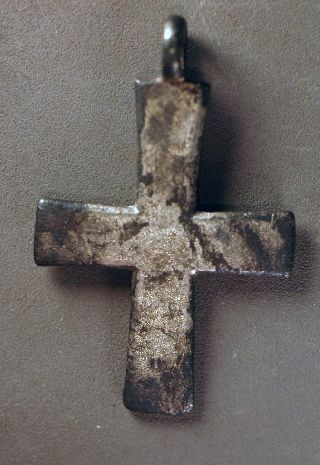 Cross,  Byzantine Silver Over 800 Years Old photo