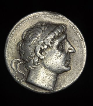 Ancient Greek Silver Tetradrachm Coin Antiochus Ii photo