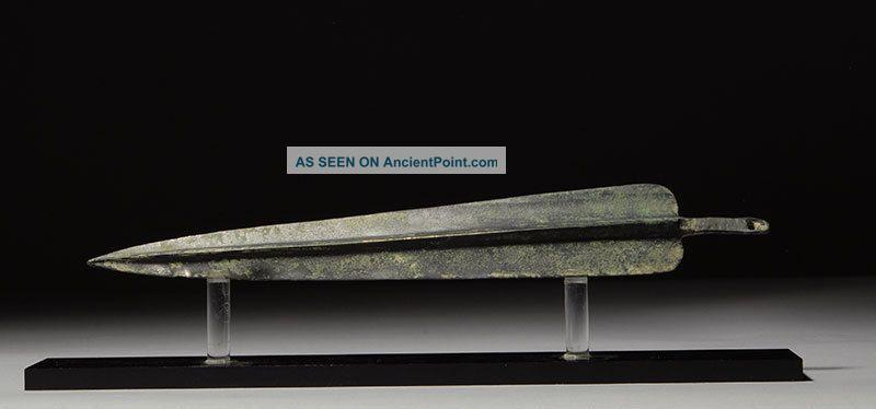 Ancient Persian Luristan Near Eastern Bronze Age Dagger Blade Spear Weapon Near Eastern photo