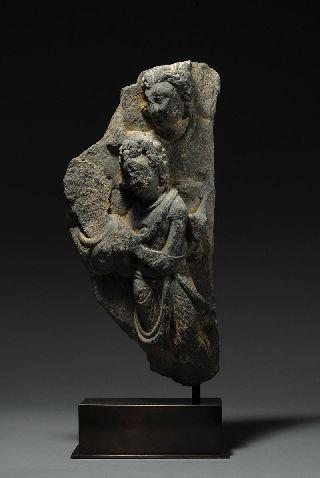 Ancient Indian Gandharan Buddhist Stone Sculpture photo