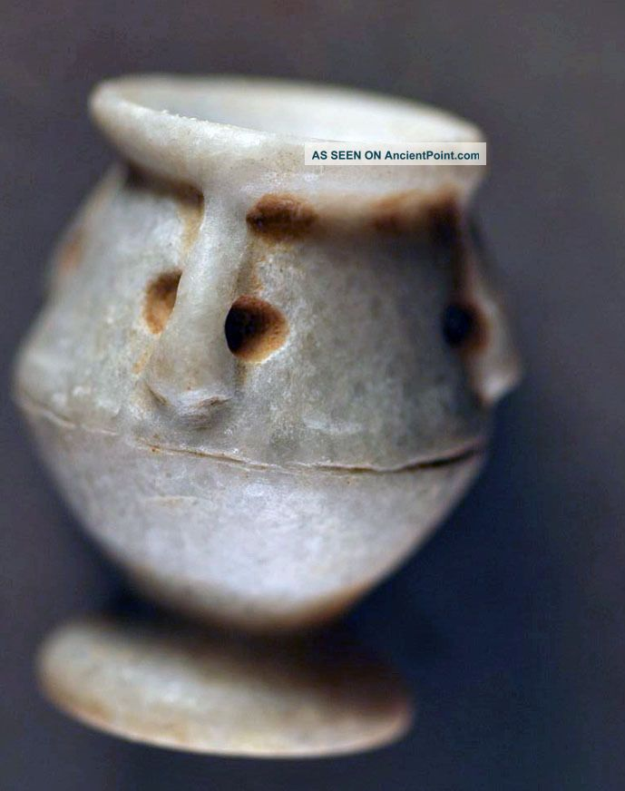 Vessel Shaped Seal,  Levantine Stone Over 3000 Years Old Near Eastern photo