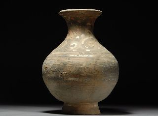 Ancient Chinese Pottery Han Dynasty Hu Vase photo