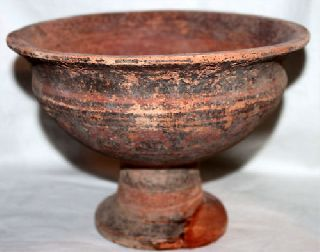 Very Large Ancient Indus Valley Pottery Chalice/bowl 2800 1800 Bc photo