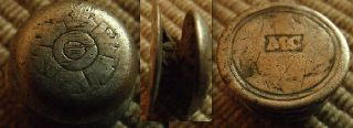 Scarce Early Post Medieval Tiny 12 Mm Silver Button / Stud,  Tudor Rose? photo
