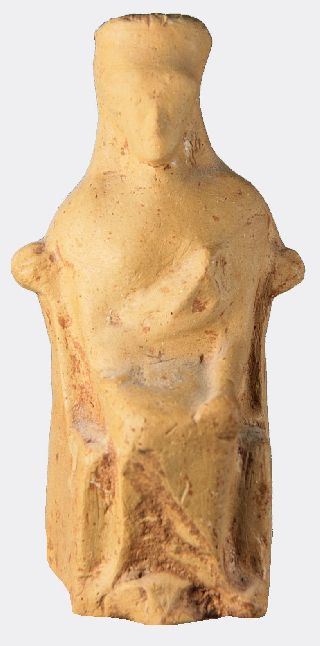 Greek Pottery Figure Of A Goddess photo