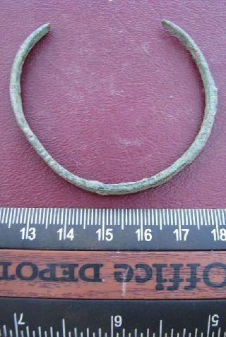 Ancient Roman To Medieval Period Bronze Bracelet 5074 photo