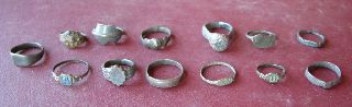 13 Roman To 20th Century Finger Rings 5319 photo