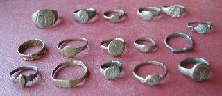 16 Roman To 20th Century Finger Rings 5322 photo