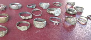 19 Roman To 20th Century Finger Rings 5325 photo