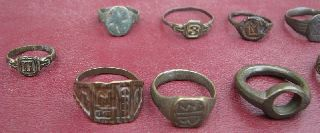 19 Roman To 20th Century Finger Rings 5324 photo