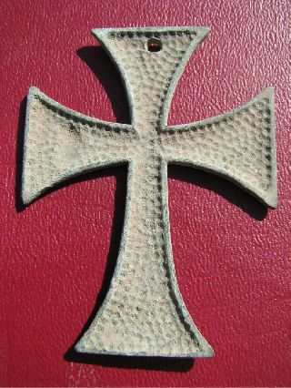 Reproduction Late Medieval Bronze Cross 5587 photo