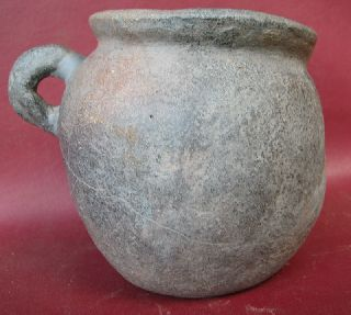Authentic Ancient Roman Repaired Pottery Vessel 7214 photo