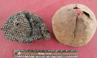 Ancient Mongol Iron Helmet & Chain Mail 14th C.  Rt 94 photo