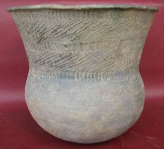 American Indian Mississippian Pottery Vessel 7216 photo