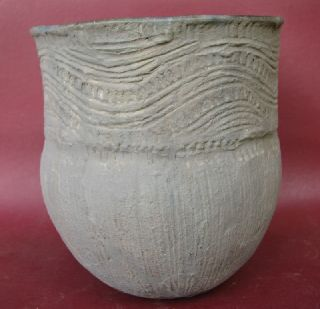 American Indian Mississippian Pottery Vessel 7217 photo