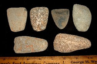 (6) Sahara Neolithic Celts,  Stone Axes,  Ancient African Artifacts Aaca photo
