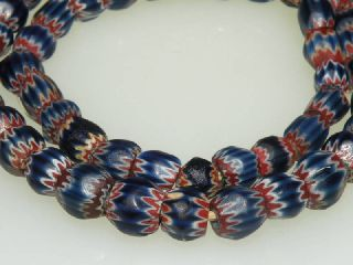 Very Rare Old 7 Seven Layers Chevron Trade Beads 1500s photo