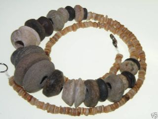Pre Columbian Stones & Shell Beads Necklaces photo