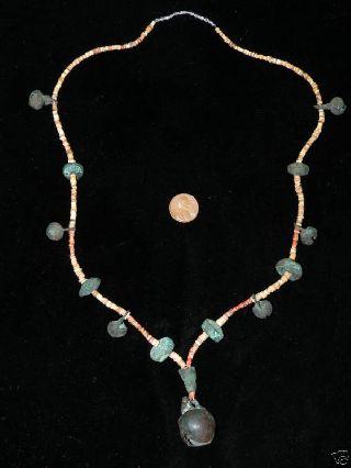 Pre Columbian Necklace Cooper Beads - Pendants photo