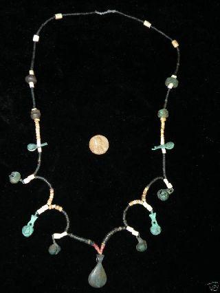Pre Columbian Necklace Copper Beads - Pendants photo
