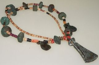 Pre - Columbian Cooper Beads Necklace photo